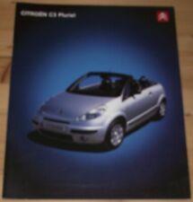 Prospekt Citroen C3 Pluriel 2004