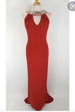 Tiffany Atlanta Prom Red Cut Out neck Long Dress size 6 BNWT