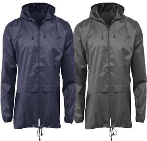 Mens Womens Adults Lightweight Cagoule Rain Coat Mac Kagoule Jacket S-XXL