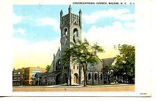 Congregational Church Building-Malone-New York-Vintage Postcard