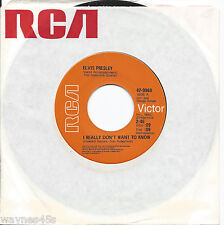 ELVIS PRESLEY 45 * I Really Don't Want To Know * 1970 * MINT ! UNPLAYED CANADIAN
