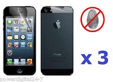 3x Front & 3x Back Anti-Glare Antiglare Screen Protector for iPhone 5 5th Gen