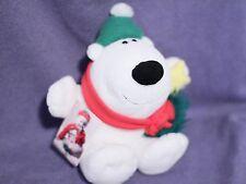 "Hallmark Snowflake Polar Bear 6"" Plush Toy Doll 1992 NEW"