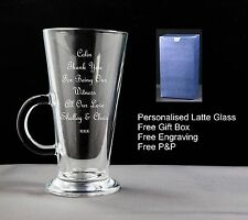 Personalised Latte Coffee Glass Thank You For Being Our Witness Gift