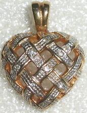 Anhänger Herz aus 333 Gold mit Zirkone