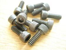 """10-24 UNC x 1/2"""" ALLEN CAPHEAD BLACK STEEL SCREW Qty 10"""