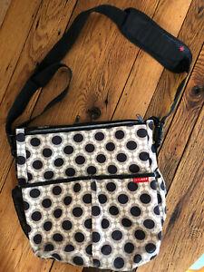 Skip Hop Messenger Diaper Bag Adj Strap Shoulder Cross Body Canvas Blossom