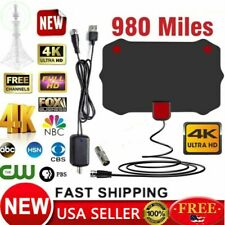 Digital TV Antenna 980 Miles Signal Booster Amplifier HDTV Indoor USB 13ft US