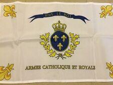 DRAPEAU BONCHAMPS SACRE COEUR ROYAL CHOUANS ROI FRANCE VENDEE CATHOLIQUE