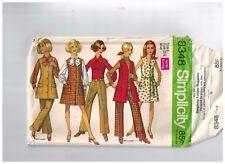 Simplicity 8348 Vintage  Sewing Pattern Long Vest Jumper Dress  Bust 31 Uncut FF