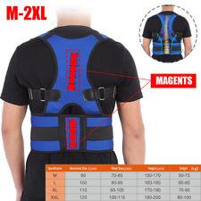 Unisex Posture Corrector Lumbar Lower Back Support Shoulder Brace Pain Magnetic
