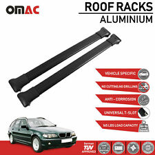 Roof Rack Cross Bars Luggage Carrier Black For BMW 3 Series E46 Wagon 1998-2005