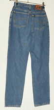 "LEE  VIRGINIA LADIES HIGH WASTED JEANS TROUSERS W 26"" L 30"" FADED BLUE  VINTAGE"