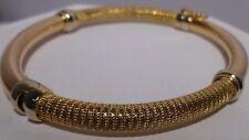Designer 18K Gold Tricolor Bangle Bracelet Yellow White Pink Gold Exquisite
