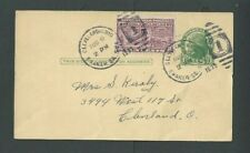 10c Special Delivery On UX27 Aug 8 1939 Rarely Seen On A Postal Card