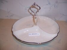 NEW Noritake HALLS OF IVY PLATINUM Round Divided Tray - Platter Bowl -NEW IN BOX