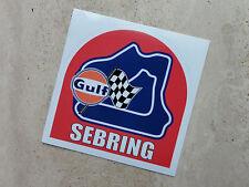 Gulf Sebring Circuito De Carreras Pegatina 75 Mm-Mercadería Oficial