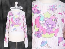 T-504 weiß white Lolita Pullover Sweatshirt Bär Bear Süß Harajuku Japan Fashion