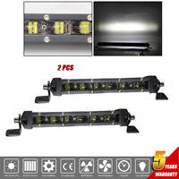 "2x 8"" Slim Barra LED Work Light Bar Single Row Combo Beam Offroad 12v SUV ATV"