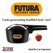 Hawkins Futura 2 Liter qt Pressure Cooker Anodized F05 Stove Top Small, Black
