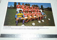 CLIPPING POSTER FOOTBALL 1988-1989 NIMES OLYMPIQUE CROCOS JEAN-BOUIN