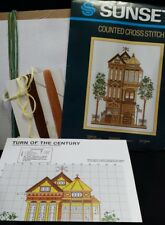 """1983 Sunset Counted Cross Stitch Kit Turn of the Century Fits 11"""" x 14"""" Frame"""
