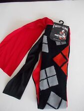 Women's DC Harley Quinn Cape Knee-High Socks Fits Shoe Sz 4-10 Sock Size 9-11