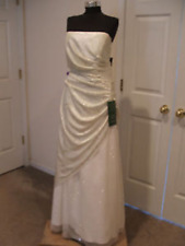 NWT Jump $ 289 ivory  sparkle strapless wedding formal gown  size  3/4