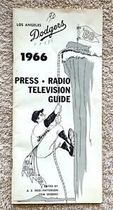 1966 LA Dodgers Press, Radio, Television Guide: Sandy Koufax's Last Season