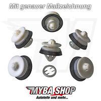 10x Innenverkleidung Befestigungs Clips mit Gummi für VW Seat Audi | 8Z0868243