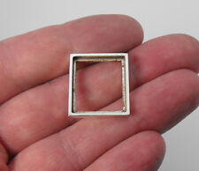 "Setting Handmade Rectangle 7/8"" x 3/4"" Solid Sterling Silver 925 Pendant Frame"