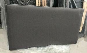 Hypnos GREY strutted Headboard 120cm small double 4ft FLAMBLEND GUNMETAL