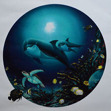 WYLAND UNDERSEA LIFE GICLEE ON CANVAS SIGNED #262/2000 W/COA DOLPHINS 30X30""