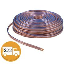 Car Home Audio Speaker Wire Transparent Clear Cable 12AWG 100ft 12/2 Gauge