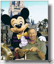 Roy E Disney Cinderella Castle Mickey Mouse NEW Color 8x10 Magic Kingdom Luster
