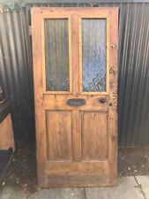 Vintage Heavy Wood Front Door