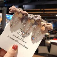 Women Bow Metal Rhinestone Hair Clip Girls Fashion Barrettes Crystal Hairpins