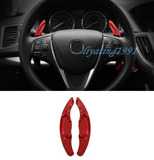 2PCS Red Steering Wheel Paddle Shifter Extension For Acura TLX 2015-2019