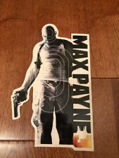 Rockstar Games Max Payne 3 Decal Sticker Black and White New Collectible Promo