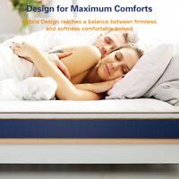 BedStory Modern 10 inch Spring Hybrid Mattress Latex Foam bed Full-size Sleep
