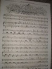 Waltz Going to the Christmas Party 1859 old music sheet ref AU