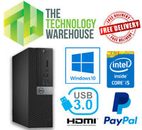 Dell Optiplex 5040 PC SFF i5 6th Gen CPU Up To 16GB Ram Fast SSD Windows 10 Pro