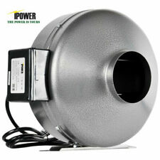 iPower GLFANXINLINE4 4 inch 190 CFM Inline Duct Ventilation Fan HVAC Exhaust Blower for Grow Tent and Grounded Power Cord