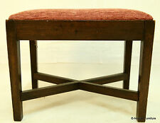 Antique Foot Stool with Drop-In Upholstered Seat FREE Nationwide Delivery