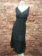 Akris Black Empire Waist Dress Size 8