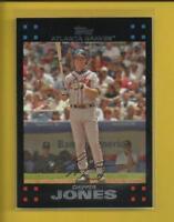 Chipper Jones 2007 Topps Series 1 Card # 90 Atlanta Braves Baseball MLB HOF