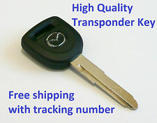 New Mazda Transponder Key Blank  Ignition Chipped Free Shipping w/ Tracking