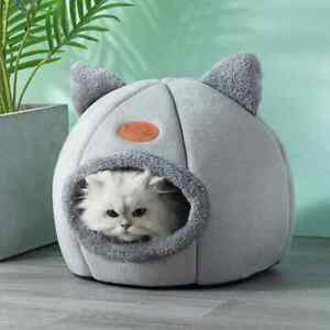 Cat Small Dog House Bed Kitten Pet Igloo Box Cave Puppy Sleeping Cozy Hut Kennel