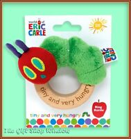 THE VERY HUNGRY CATERPILLAR RING RATTLE - BABY TEETHER TOY TINY CATERPILLAR NEW