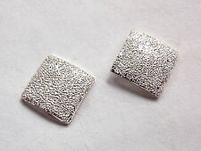 Faux-Diamond Dust Square Stud Earrings 925 Sterling Silver Corona Sun Jewelry